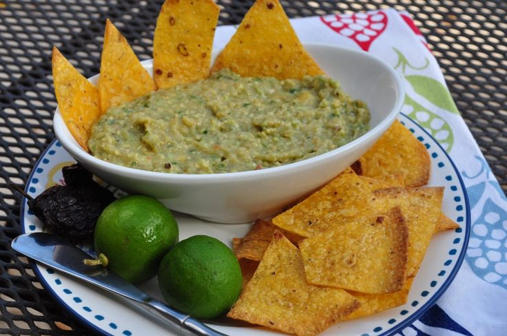 Guacamole With Roasted Tomatillos and Chipotle Peppers | Recipe