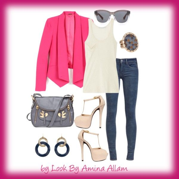Pink blazer, created by Look By Amina Allam