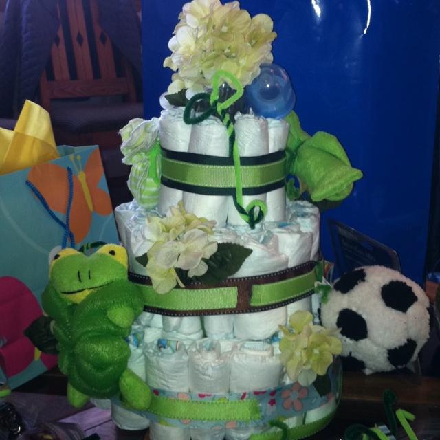 jungle theme diaper cake instructions