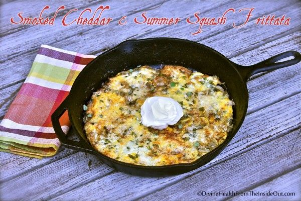 Smoked Cheddar & Summer Squash Frittata | Divine Health - since I don ...