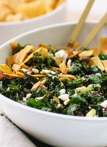 and crispy kale salad with lime dressing recipes dishmaps crispy kale ...