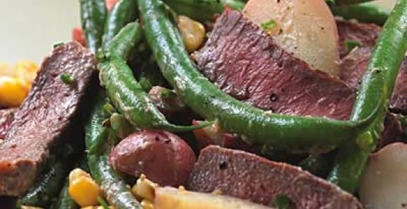 Steak & Potato Salad with Horseradish Dressing | KitchenDaily.com