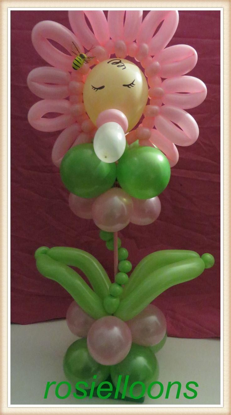Rosielloons baby shower cakes pinterest for Balloon art for baby shower