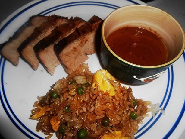 Grilled Asian Pork Tenderloin With Peanut Sauce | Recipe