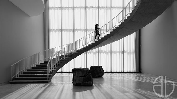 Beautiful staircase in the art institute chicago