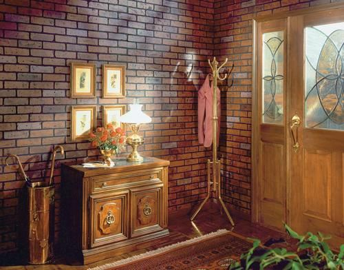 Faux brick paneling for the home pinterest - Red brick wall panel ...