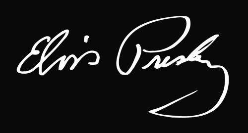 Elvis Presley Famous Signatures Pinterest
