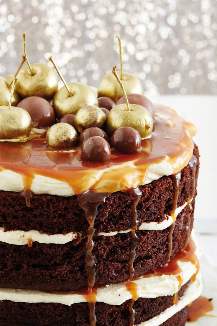Chocolate and salted caramel layer cake | !!BEST DESSERTS!! | Pinter ...
