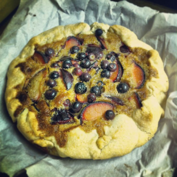 Almond plum galette with blueberries from I Trader Joes Cookbook