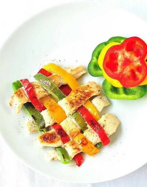 Chicken & Bell Peppers Weave | Chicken | Pinterest