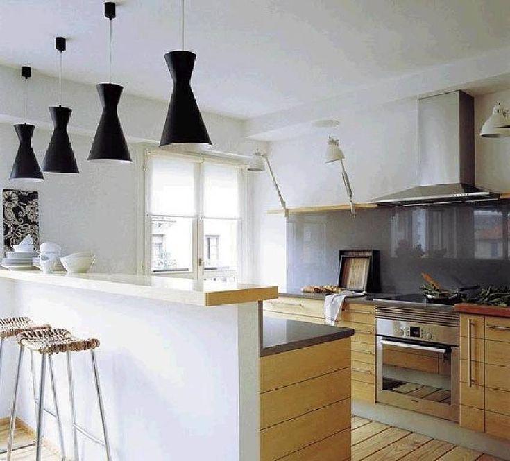 Barra de cocina noon pinterest - Cocinas integradas en el salon ...