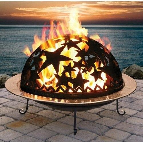 'Copper Starry Night Fire Dome'