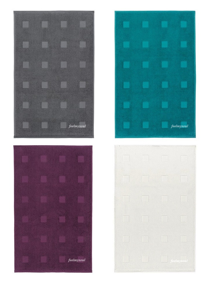 ikea bathroom bathmat rug gray purple turquoise cotton new