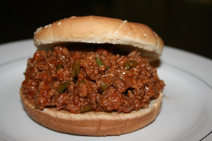 ... Sloppy Joes. Recipe @ http://allrecipes.com/recipe/sloppy-joes-ii