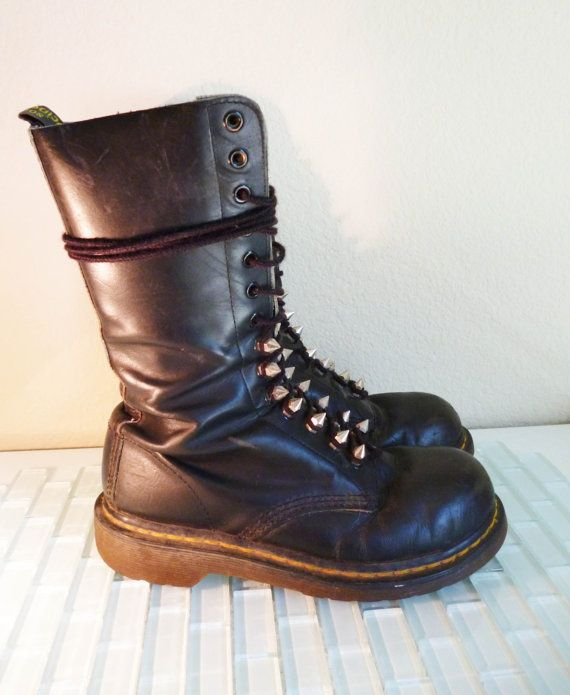 doc martin boot steel toe 14 black leather boots