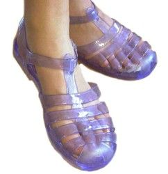 Jelly sandals.