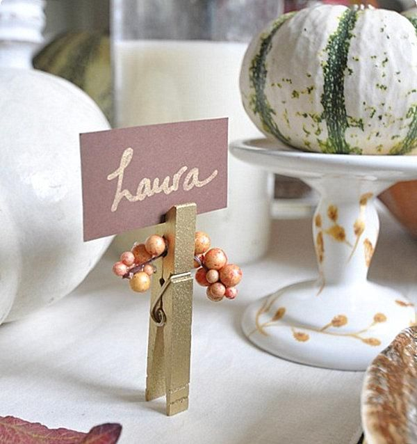 thanksgiving place card holder diy pinterest
