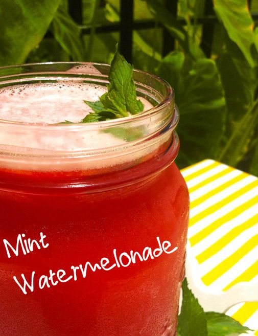 Mint Watermelonade #vegan #recipe #drinks #summertime #veganism #yum # ...