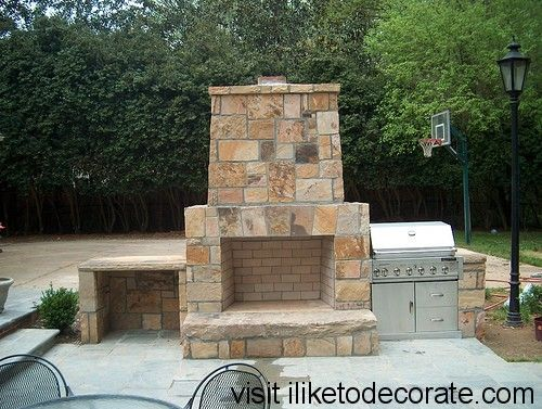 How to make a outdoor fireplace curb appeal