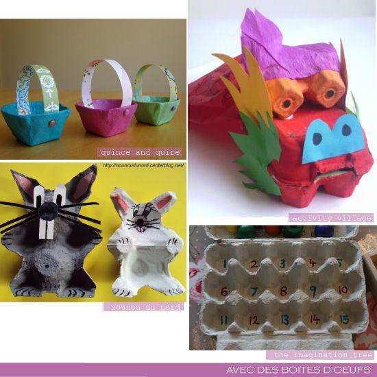 bricolage_boite_oeufs_2  Enseigner aux petits  Pinterest