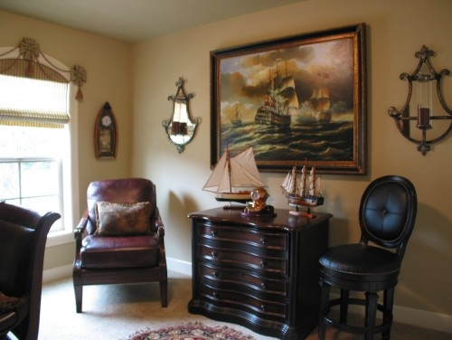 traditional home office | Nautical Home | Pinterest
