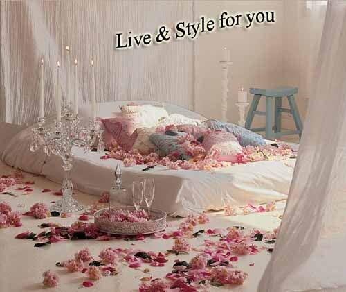 Romantic Honeymoon Bed : Wedding Romantic bed room designs  Romantic bed  Pinterest