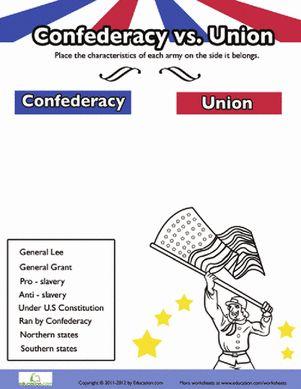 Civil War Worksheets 3rd Grade Also Civil War Worksheets 8th Grade ...
