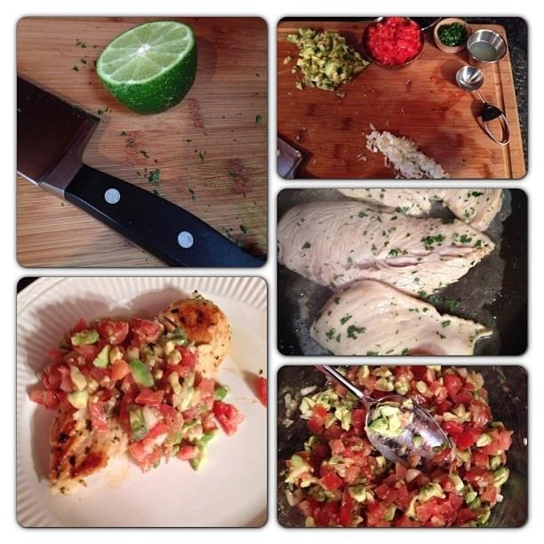 Cilantro Lime chicken with Avocado Salsa | Spring Summer Recipes | Pi ...