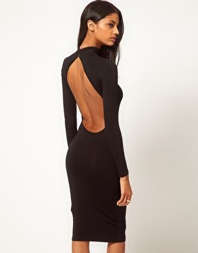 Black midi dress with polo neck. $42.25.