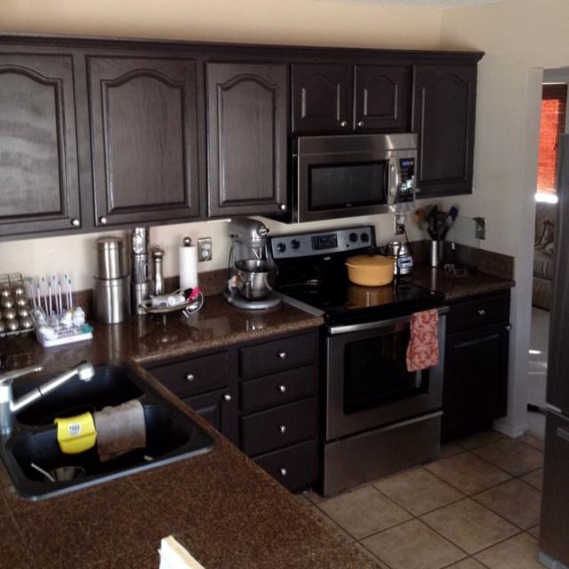 new dark brown cabinets kitchen ideas pinterest