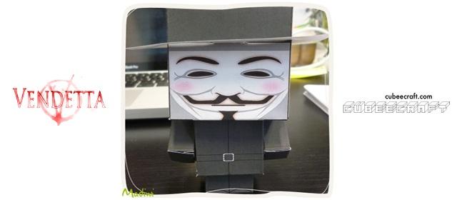 for Vendetta - V Paper Toy
