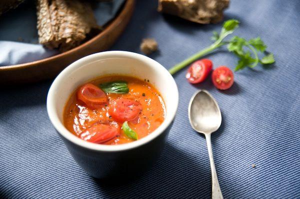 Roasted Tomato and Basil Soup | Cucina italiana | Pinterest