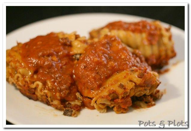 Pot Lasagna Rolls..Ingredients: link sweet Italian turkey sausage ...