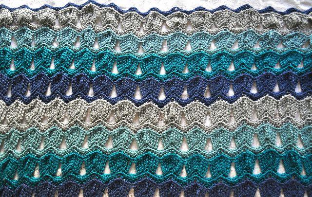 Vintage Ripple Crochet Afghan Pattern : Vintage ripple fan stitch pattern crochet Pinterest