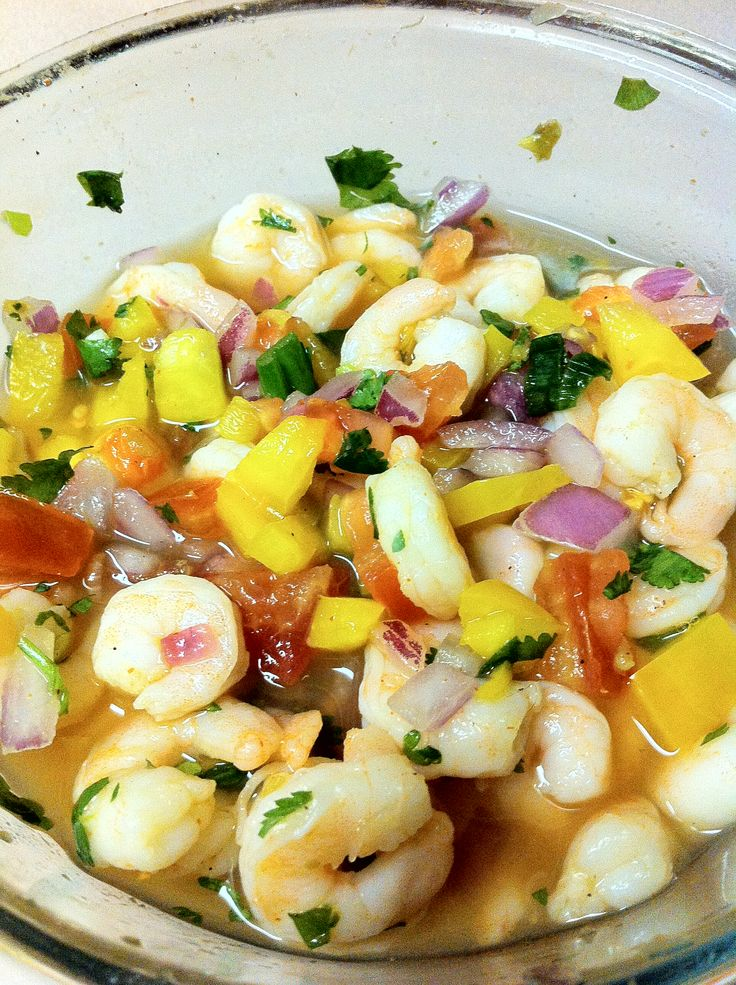 Shrimp Ceviche and all kinds of healthy snacks and recipes!!!
