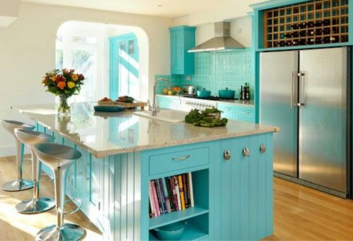Tiffany blue kitchen love for the home pinterest for Tiffany blue kitchen ideas