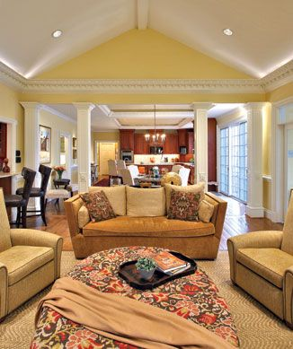 Kitchen/Family room - open floor plan from kitchen into the family ...