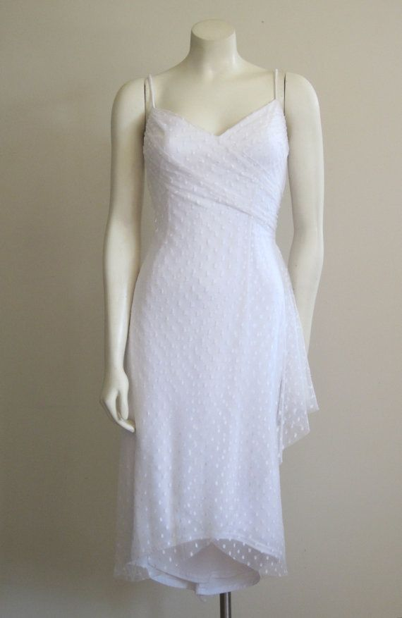 Gunne Sax Dress Wedding Dress 1980s White Swiss Dot Fishtai