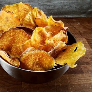 BBQ Sweet Potato Chips #snacks #potatoes