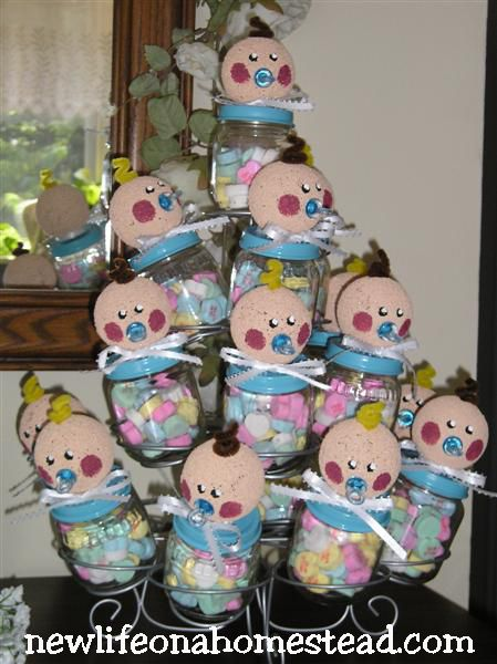 cute baby food jar craft baby shower craft ideas for girls 449x600