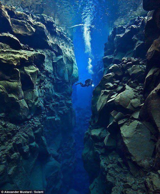 Tectonic Plate Cap between Europe and America..