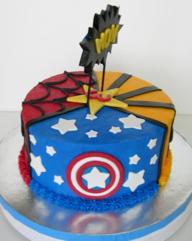 Super Hero Cake via Craftsy
