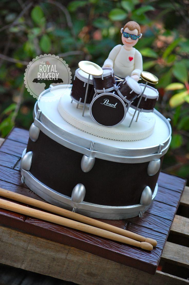 Drum kit groom s cake. Cakes, fondant, frosting Pinterest