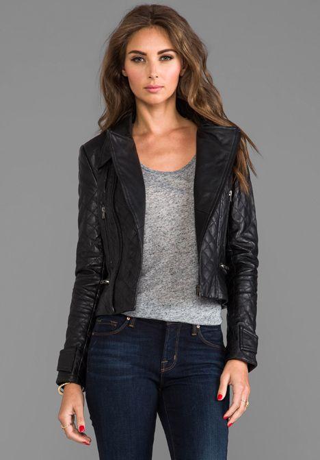 shop clothing outerwear jackets kenna t asymmetrical leather jacket