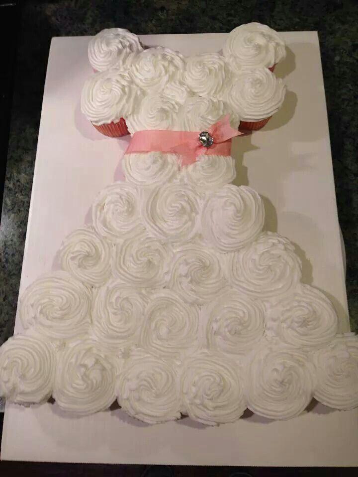 Wedding dress cupcake cake cakes pinterest for Wedding dress cupcake cake