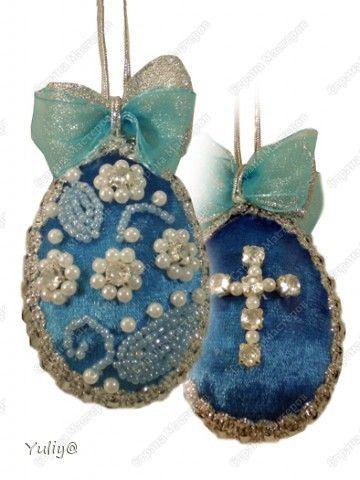 Beaded Cross on velvet Easter egg beads, lace, ribbons TUTORIAL