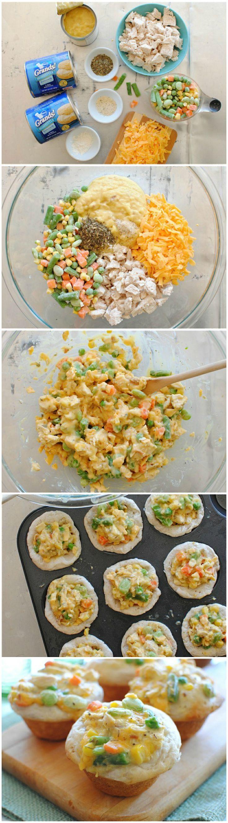 Chicken Pot Pie Cupcakes Recipe — Dishmaps
