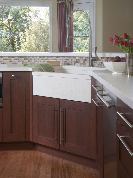 Small Corner Kitchen Sink : Denver Kitchen Corner Sink Small Kitchen Design, Pictures, Remodel ...