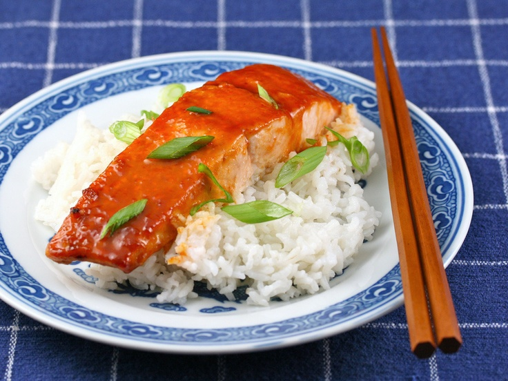 Miso-Sriracha Glazed Salmon by The Perfect Pantry