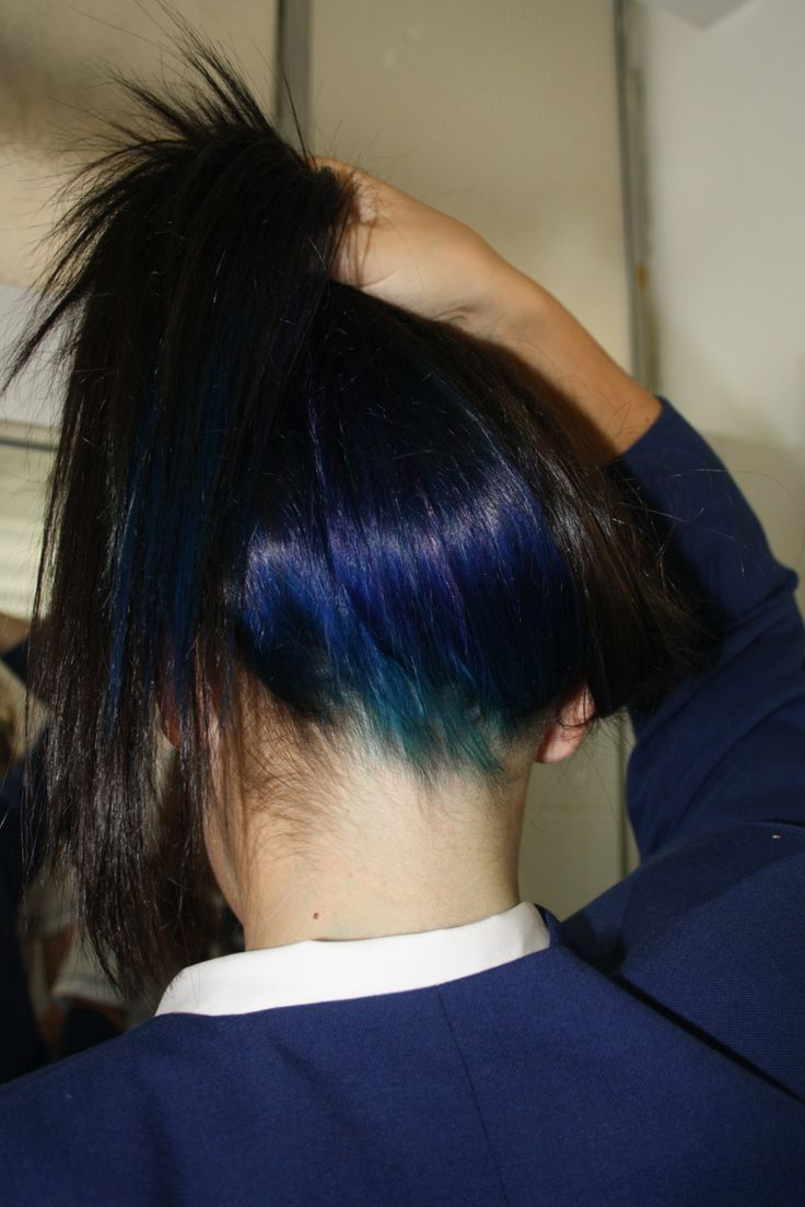 Black hair with blue tips tumblr
